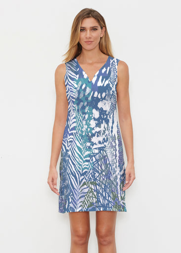 Jungle Warrior Blue (7850) ~ Vivid Sleeveless Dress