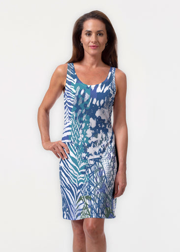 Jungle Warrior Blue (7850) ~ Vivid Scoop Tank Dress