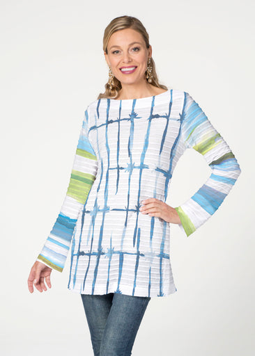 Knotted Stripe (7853) ~ Banded Boatneck Tunic