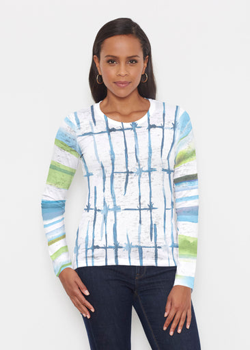 Knotted Stripe (7853) ~ Signature Long Sleeve Crew Shirt