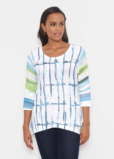 Knotted Stripe (7853) ~ Katherine Hi-Lo Thermal Tunic