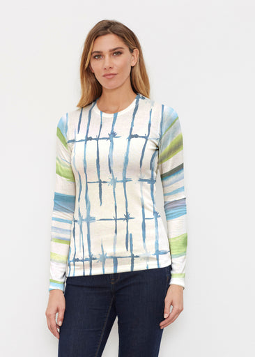 Knotted Stripe (7853) ~ Butterknit Long Sleeve Crew Top