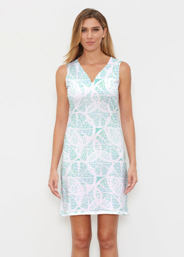Aqua Citrus (7855) ~ Classic Sleeveless Dress