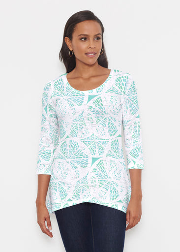 Aqua Citrus (7855) ~ Katherine Hi-Lo Thermal Tunic