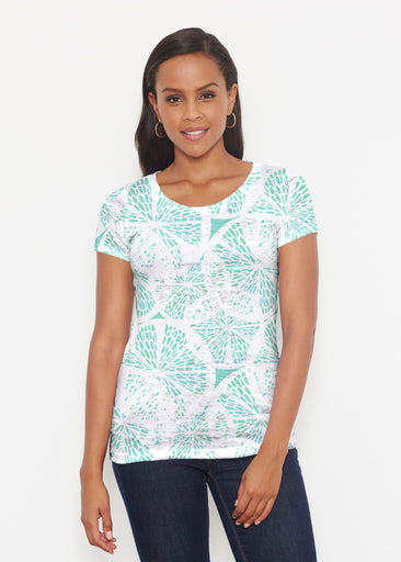 Aqua Citrus (7855) ~ Signature Short Sleeve Scoop Shirt