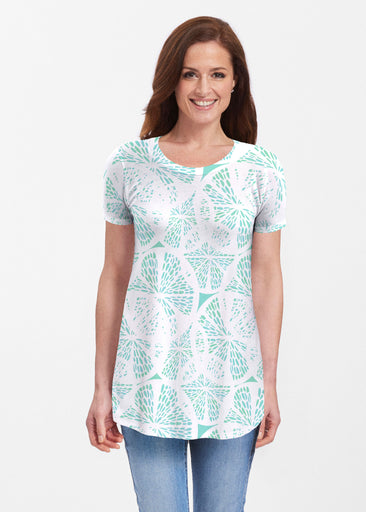 Aqua Citrus (7855) ~ Butterknit Short Sleeve Tunic