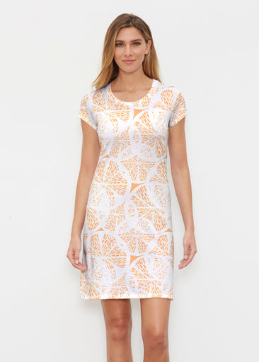 Orange Citrus (7862) ~ Classic Crew Dress