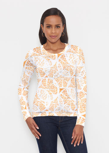 Orange Citrus (7862) ~ Signature Long Sleeve Crew Shirt