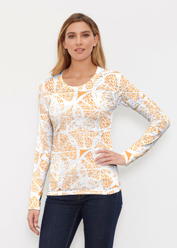 Orange Citrus (7862) ~ Thermal Long Sleeve Crew Shirt
