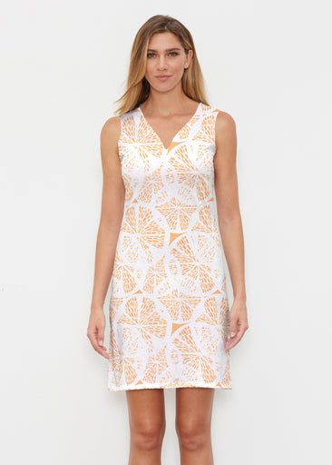 Orange Citrus (7862) ~ Classic Sleeveless Dress