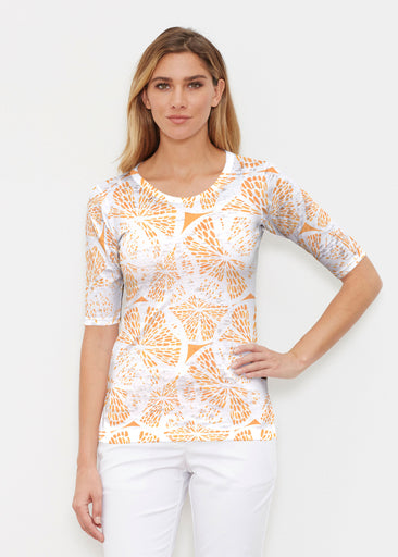Orange Citrus (7862) ~ Signature Elbow Sleeve Crew Shirt