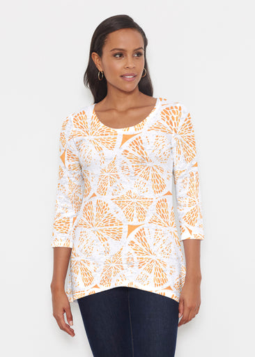 Orange Citrus (7862) ~ Katherine Hi-Lo Thermal Tunic