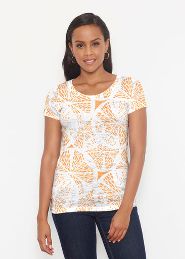 Orange Citrus (7862) ~ Signature Short Sleeve Scoop Shirt