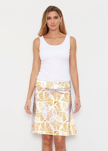 Orange Citrus (7862) ~ Silky Brenda Skirt 21 inch