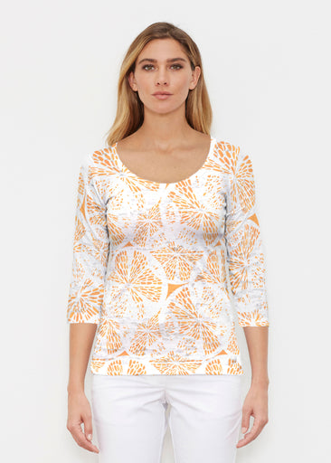 Orange Citrus (7862) ~ Signature 3/4 Sleeve Scoop Shirt