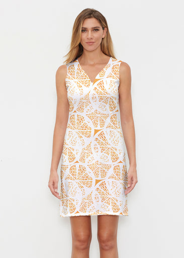 Orange Citrus (7862) ~ Vivid Sleeveless Dress