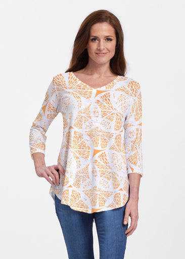 Orange Citrus (7862) ~ Signature V-neck Flowy Tunic