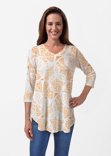 Orange Citrus (7862) ~ Butterknit V-neck Flowy Tunic