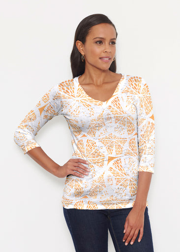 Orange Citrus (7862) ~ Signature 3/4 V-Neck Shirt