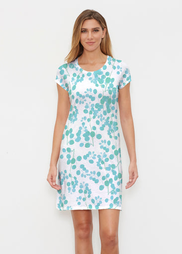 Teal Pome (7863) ~ Classic Crew Dress