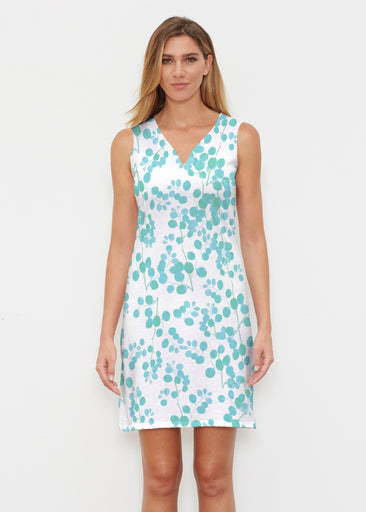 Teal Pome (7863) ~ Classic Sleeveless Dress