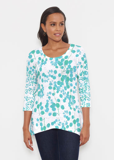 Teal Pome (7863) ~ Katherine Hi-Lo Thermal Tunic