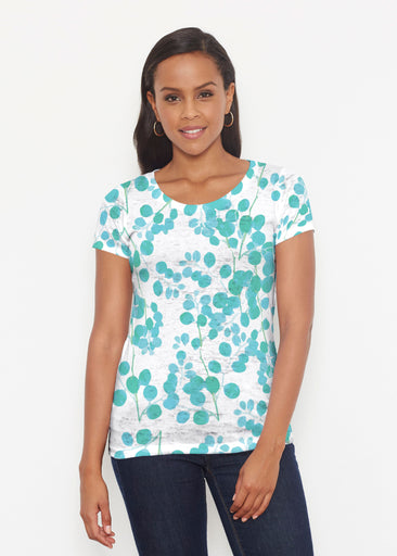 Teal Pome (7863) ~ Signature Short Sleeve Scoop Shirt
