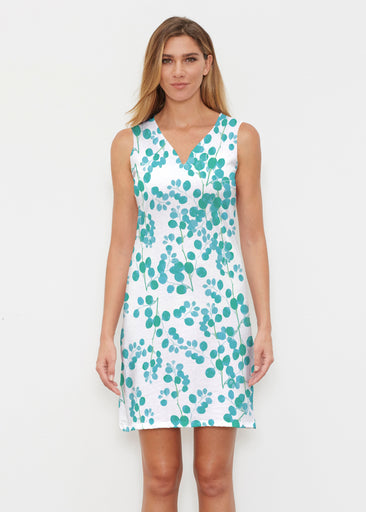 Teal Pome (7863) ~ Vivid Sleeveless Dress