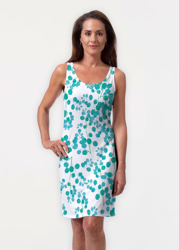 Teal Pome (7863) ~ Vivid Scoop Tank Dress