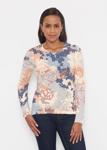 Oriental Floral (7868) ~ Signature Long Sleeve Crew Shirt
