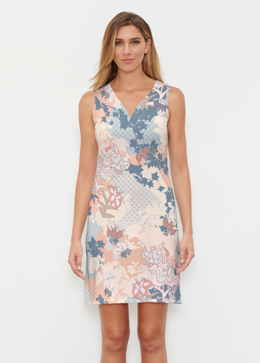 Oriental Floral (7868) ~ Classic Sleeveless Dress