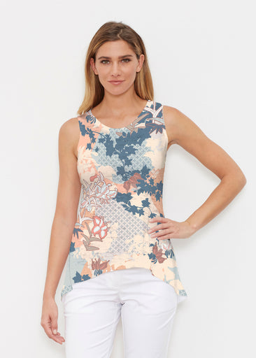 Oriental Floral (7868) ~ High-low Tank