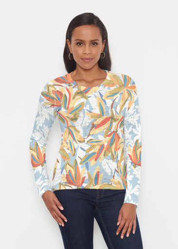 Colorful Palm (7874) ~ Signature Long Sleeve Crew Shirt