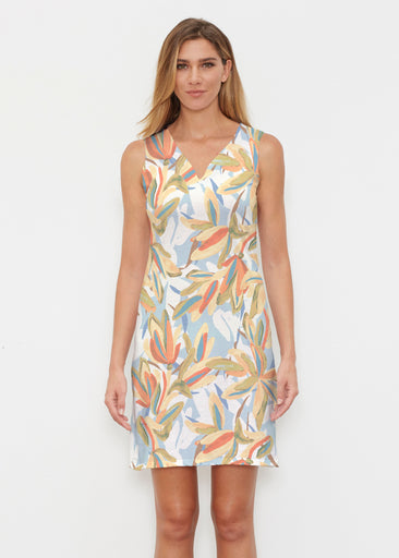 Colorful Palm (7874) ~ Classic Sleeveless Dress