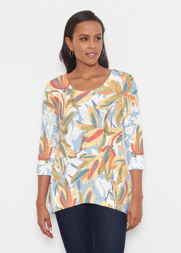 Colorful Palm (7874) ~ Katherine Hi-Lo Thermal Tunic