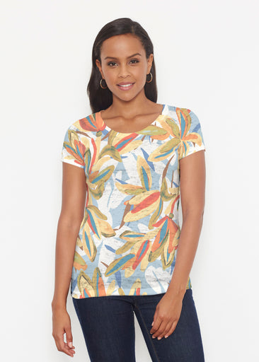 Colorful Palm (7874) ~ Short Sleeve Scoop Shirt