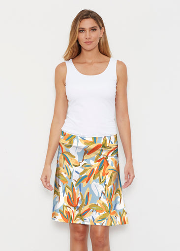 Colorful Palm (7874) ~ Silky Brenda Skirt 21 inch