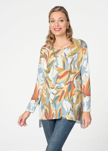 Colorful Palm (7874) Slouchy Butterknit Top