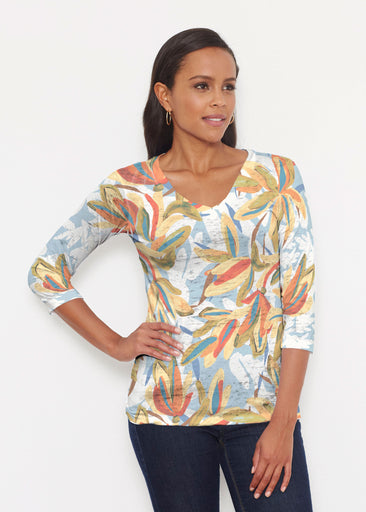 Colorful Palm (7874) ~ Signature 3/4 V-Neck Shirt