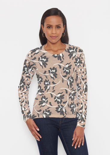 Polka Dot Floral (7875) ~ Signature Long Sleeve Crew Shirt