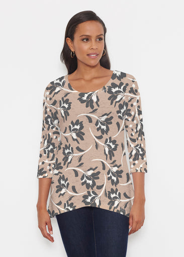 Polka Dot Floral (7875) ~ Katherine Hi-Lo Thermal Tunic