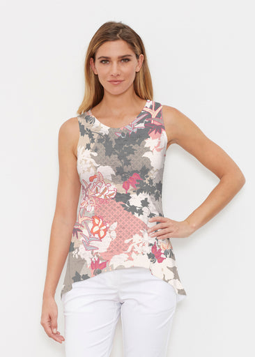 Oriental Floral Grey (7876) ~ High-low Tank