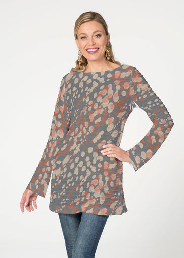 Edgy Splash (7877) ~ Banded Boatneck Tunic