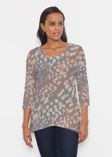 Edgy Splash (7877) ~ Katherine Hi-Lo Thermal Tunic