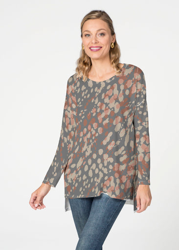 Edgy Splash (7877) ~ Slouchy Butterknit Top