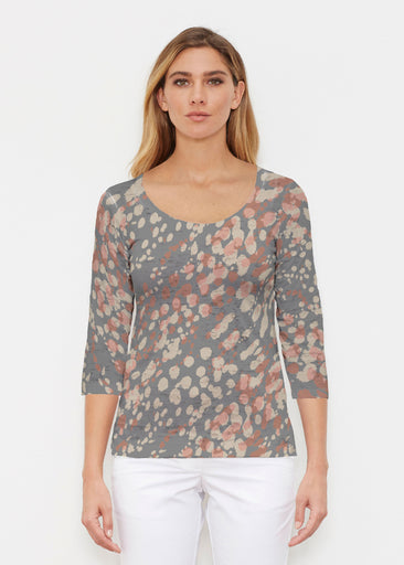 Edgy Splash (7877) ~ Signature 3/4 Sleeve Scoop Shirt