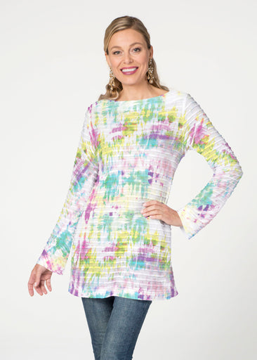 Summer Tie Dye (7878) ~ Banded Boatneck Tunic