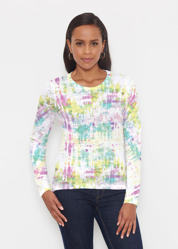 Summer Tie Dye (7878) ~ Signature Long Sleeve Crew Shirt