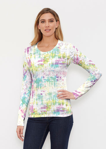 Summer Tie Dye (7878) ~ Thermal Long Sleeve Crew Shirt