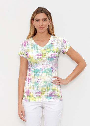 Summer Tie Dye (7878) ~ Signature Cap Sleeve V-Neck Shirt